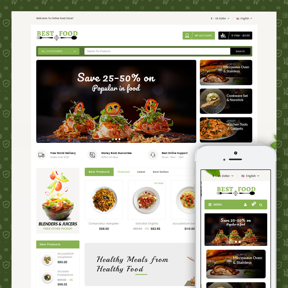 theme - Lebensmittel & Restaurants - Best Food Store - 1
