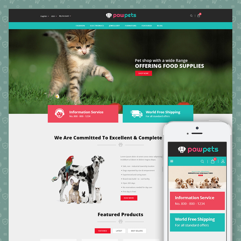 theme - Animaux - Pets & Animals Store - 1
