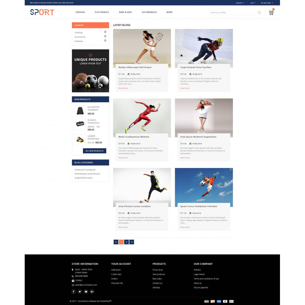 theme - Sports, Activities & Travel - Sports Kit Store - 9