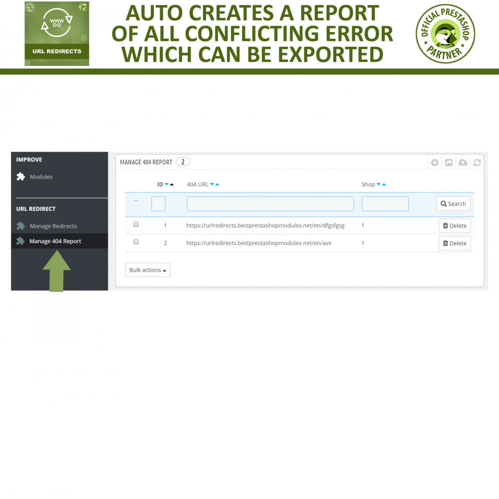 module - Gestão de URL & Redirecionamento - URL Redirects - 301, 302, 303 redirects & 404 URLs - 6