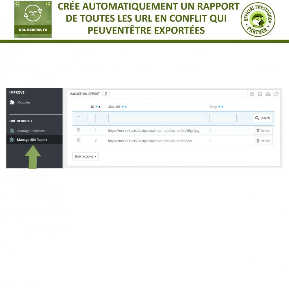 module - URL & Redirections - Redirection d'URL, Gérer 301, 302, 303, et 404 URL - 5