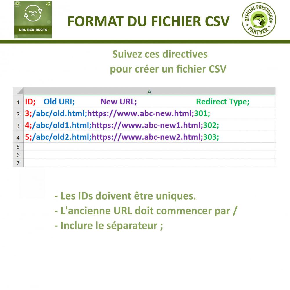 module - URL & Redirections - Redirection d'URL, Gérer 301, 302, 303, et 404 URL - 6