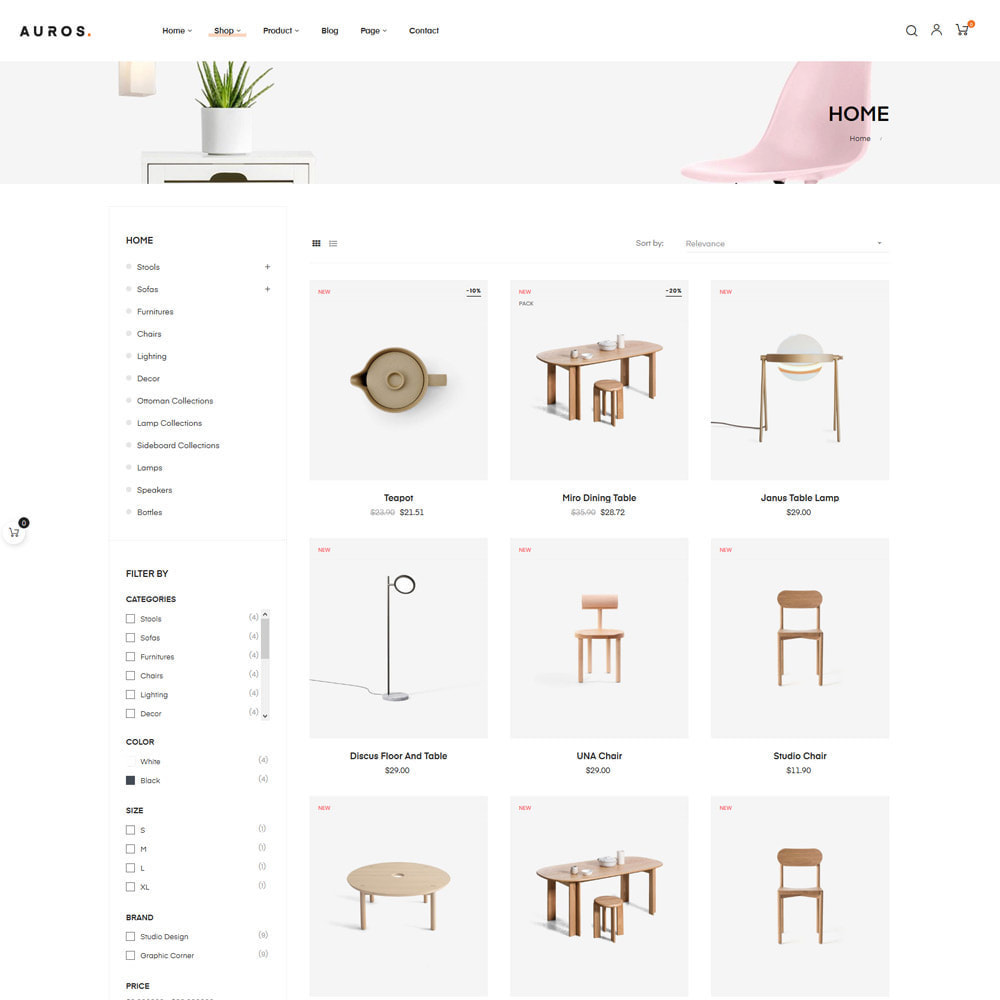 theme - Dom & Ogród - Auros Minimal - Furniture & Interior Home Decor - 10
