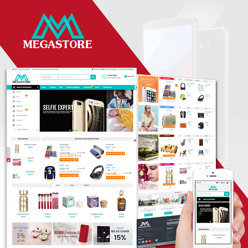 theme - Elektronika & High Tech - Mega shop online - 1