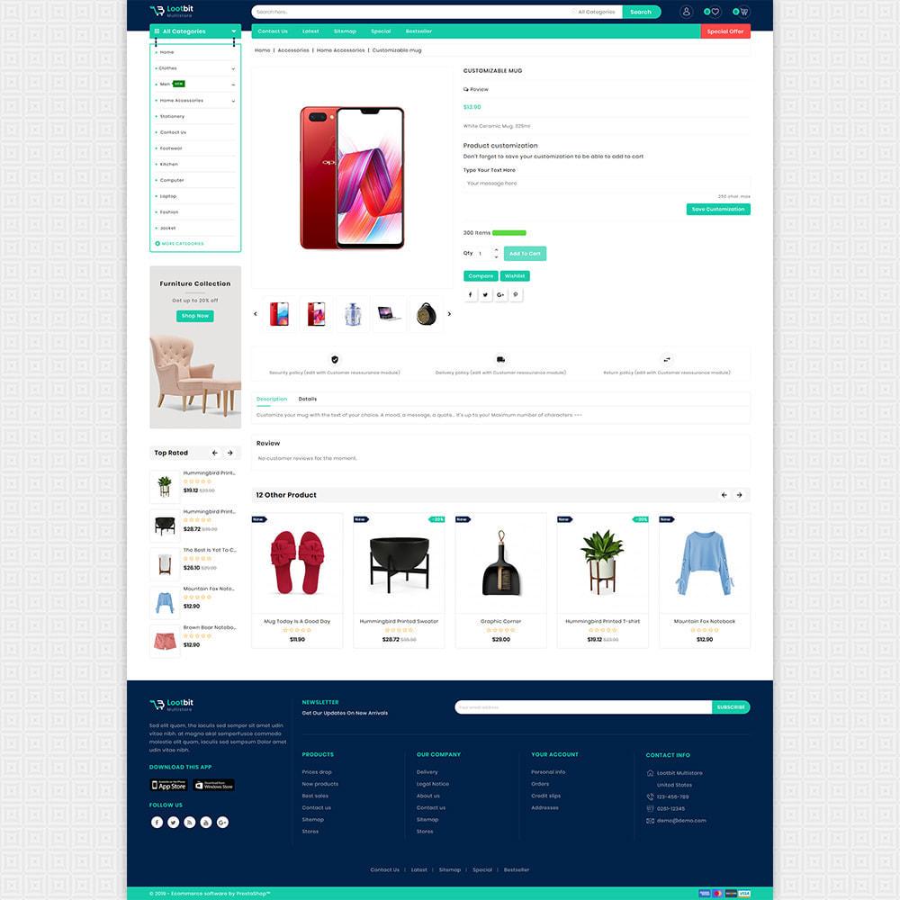 theme - Elektronika & High Tech - Lootbit - Multi Store Theme - 5