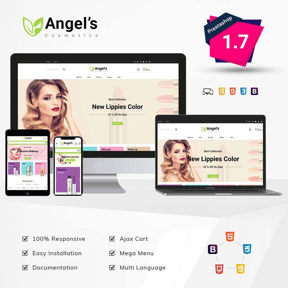 theme - Health & Beauty - Angels eCosmetic Store - 1