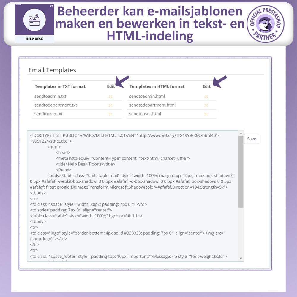 module - Klantenservice - Help Desk – Klantensupport Management Systeemmodule - 17