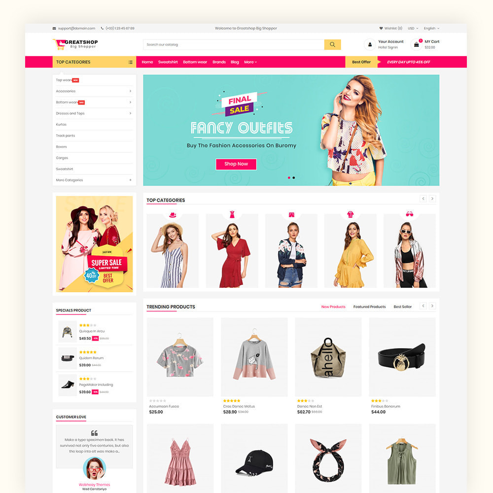 theme - Mode & Chaussures - Greatshop Mega Fashion Store - 2