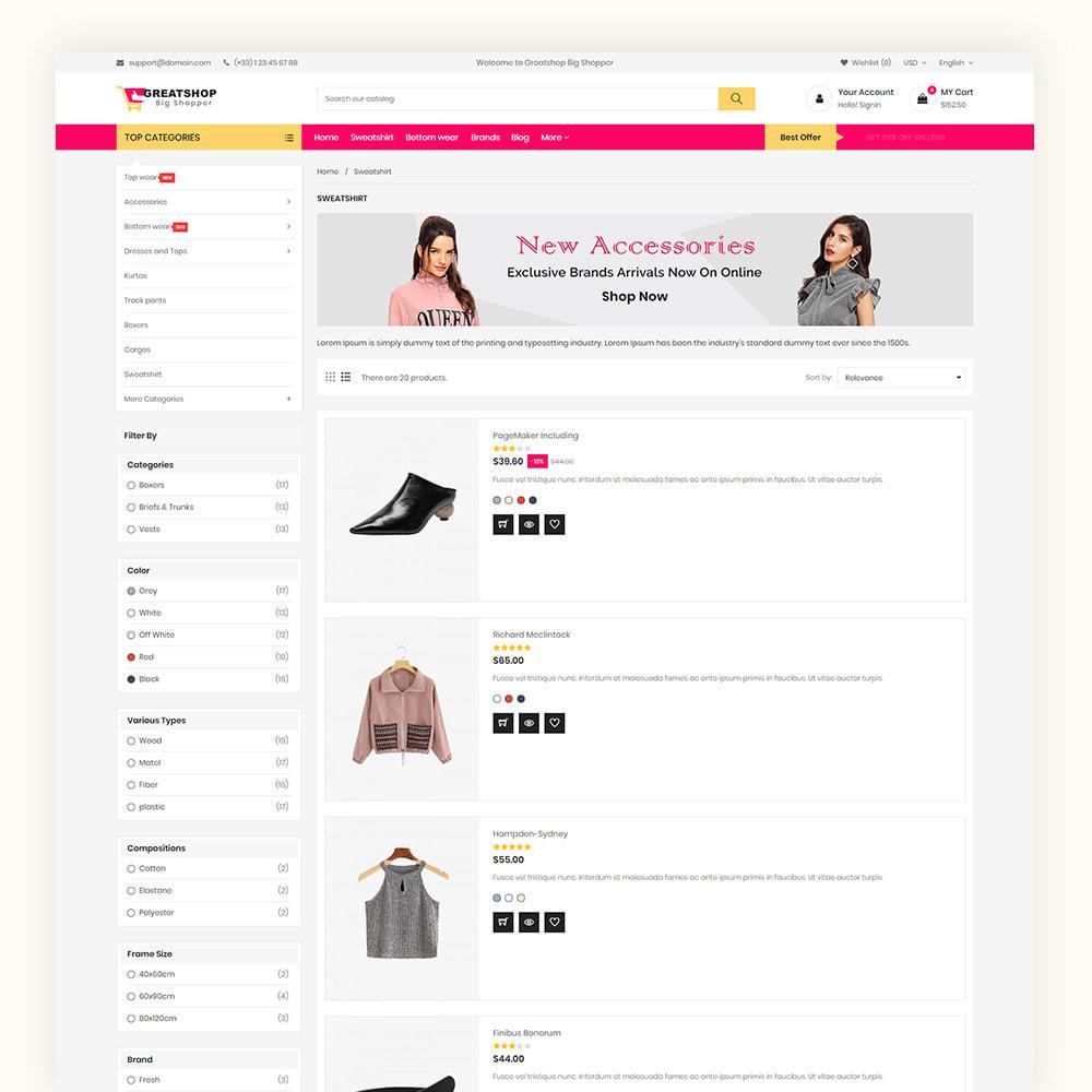 theme - Mode & Chaussures - Greatshop Mega Fashion Store - 6