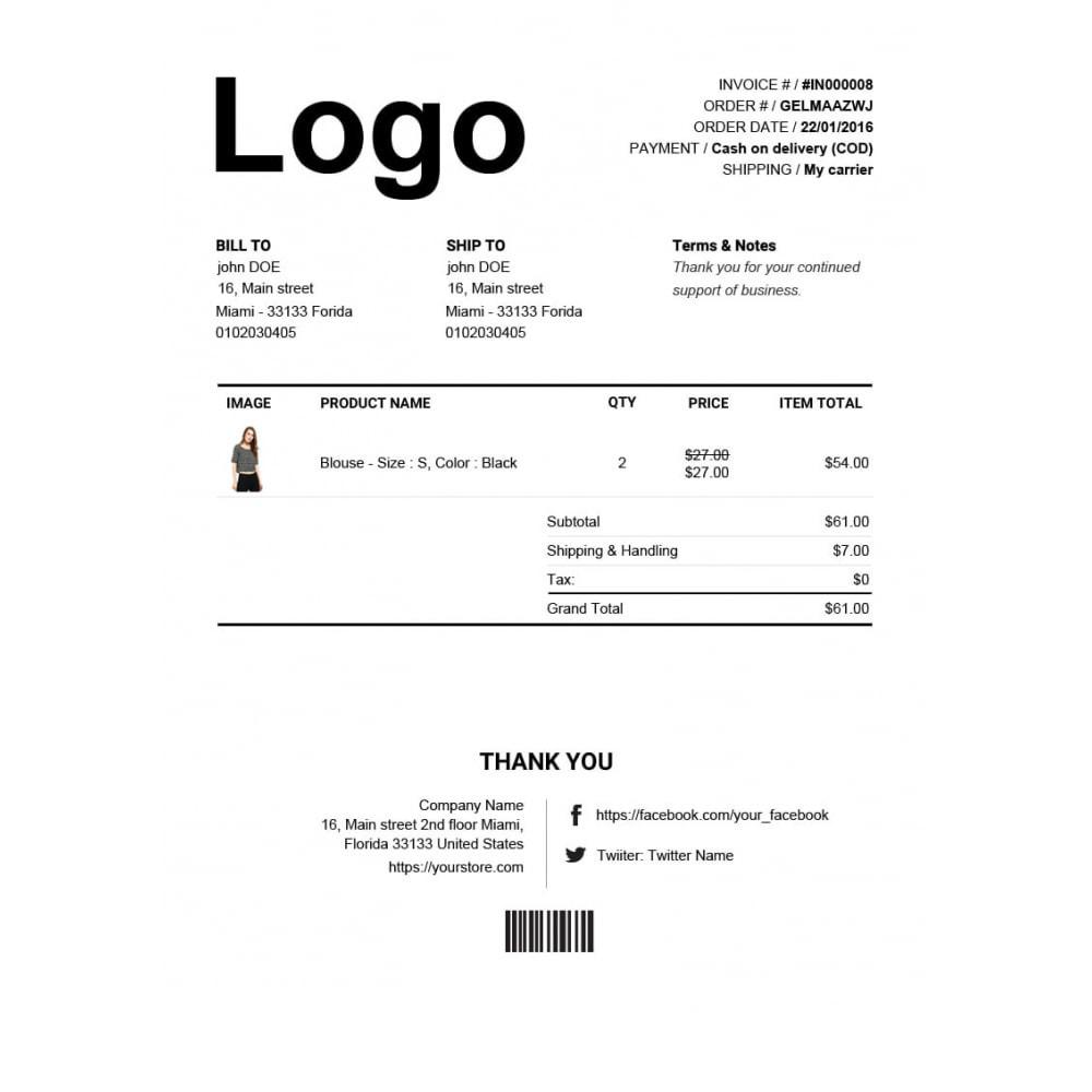 module - Buchhaltung & Rechnung - Rechnung, Lieferung, Gutschrift PDF + Kundenummer - 3