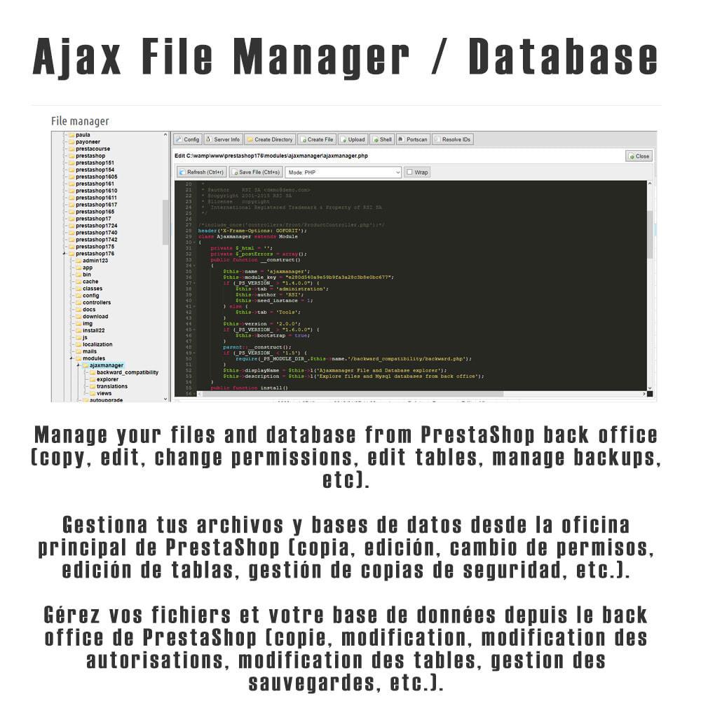 module - Herramientas Administrativas - Ajax File / Database Manager - 1