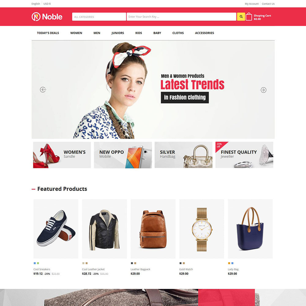 theme - Fashion & Shoes - Noble Apparels  - Women Fashion Store - 2