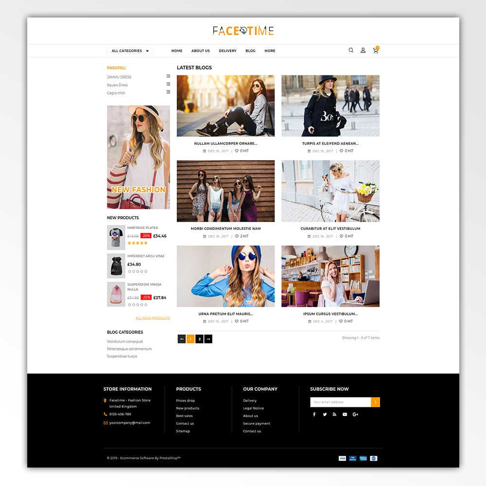 theme - Мода и обувь - Facetime - Online Fashion Store - 5
