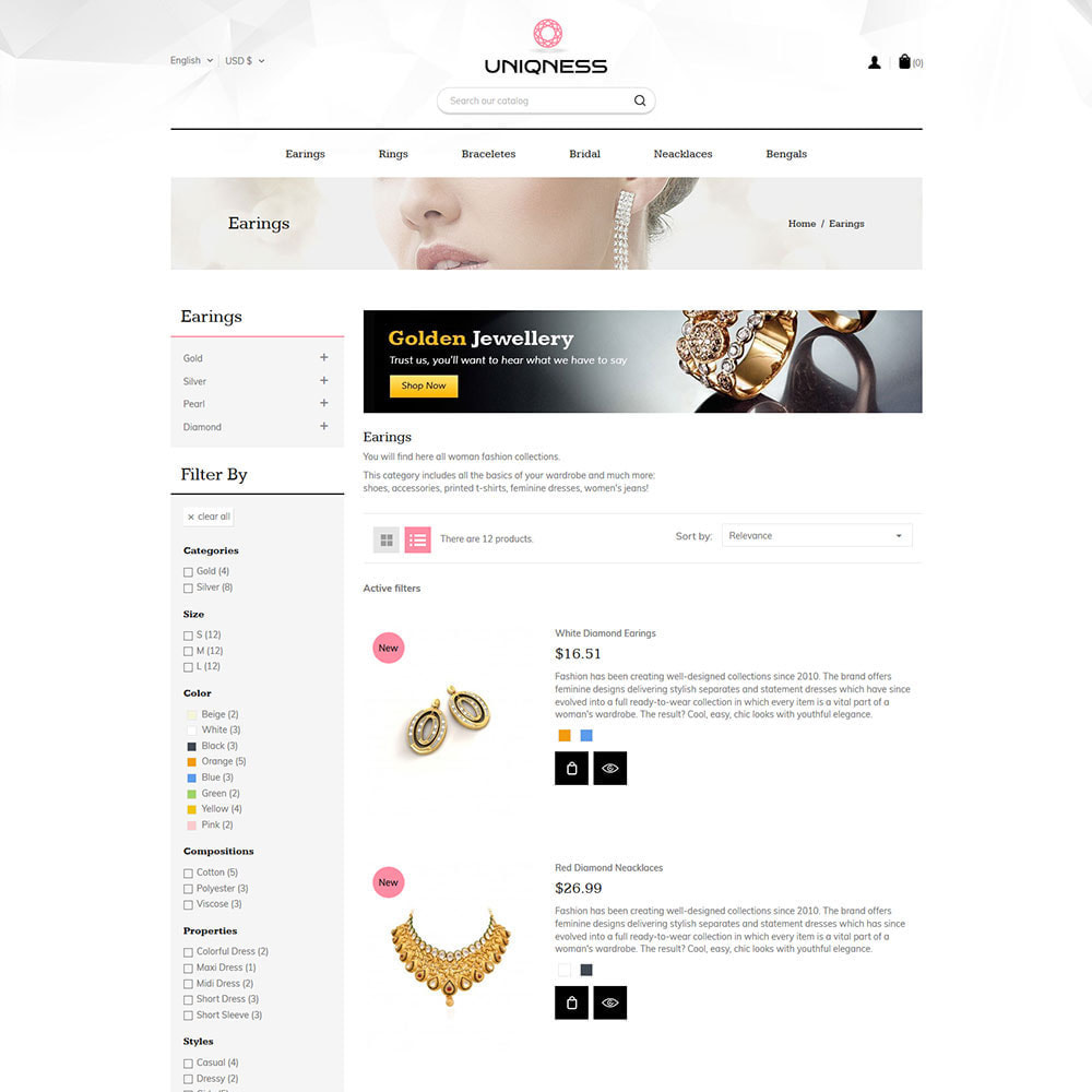 theme - Jewelry & Accessories - Modern Jewellery - Diamond  Sparkal Store - 4