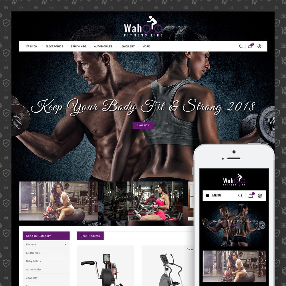 theme - Gezondheid & Schoonheid - Fitness Life - Gym Equipment - 1
