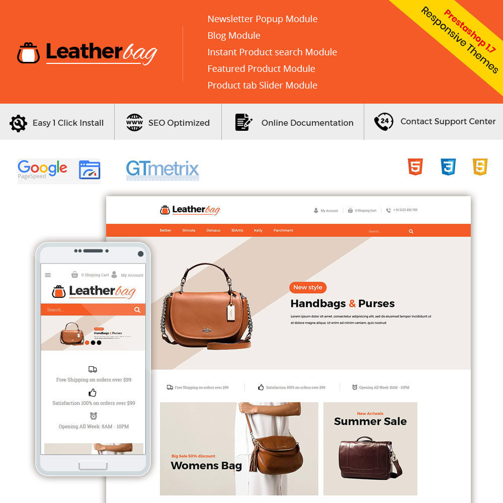 theme - Fashion & Shoes - Leather Bag - Apparels  Fashion Store - 1