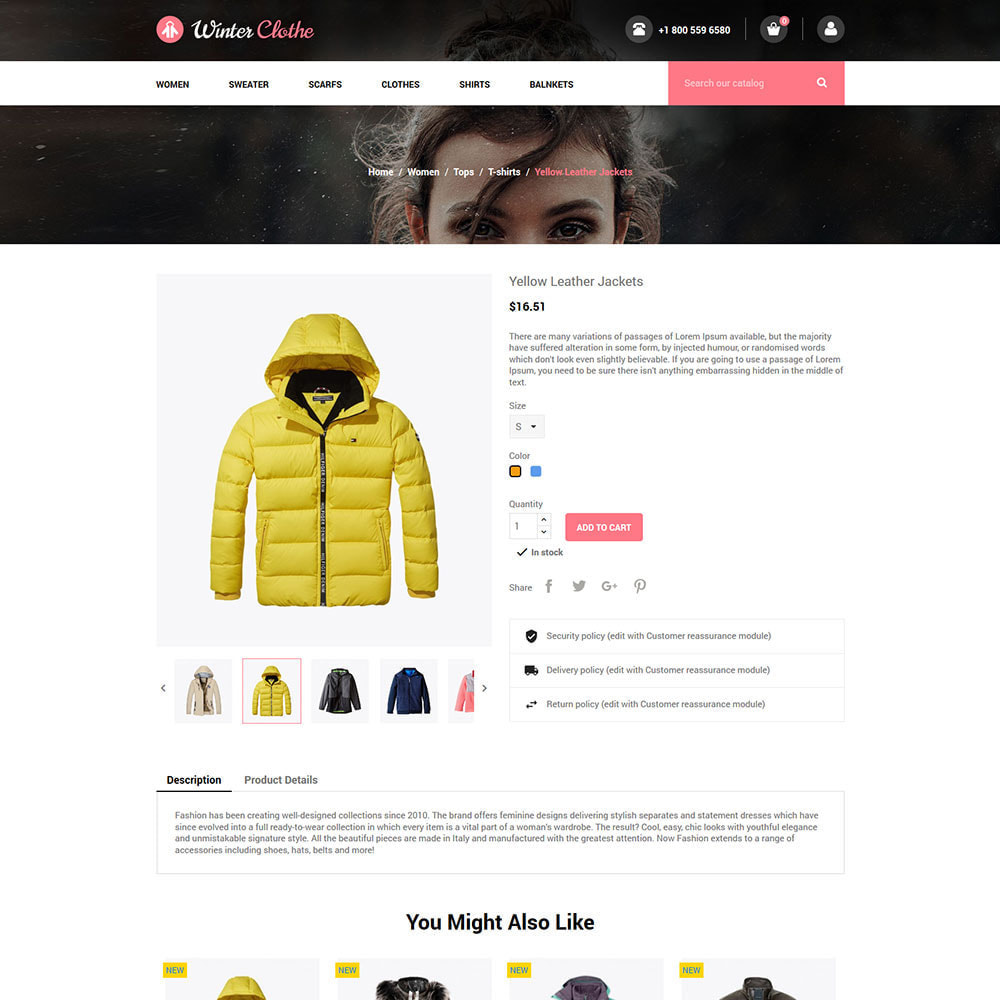 theme - Fashion & Shoes - Winter Cloth  - Fashion Jacket  Store - 5