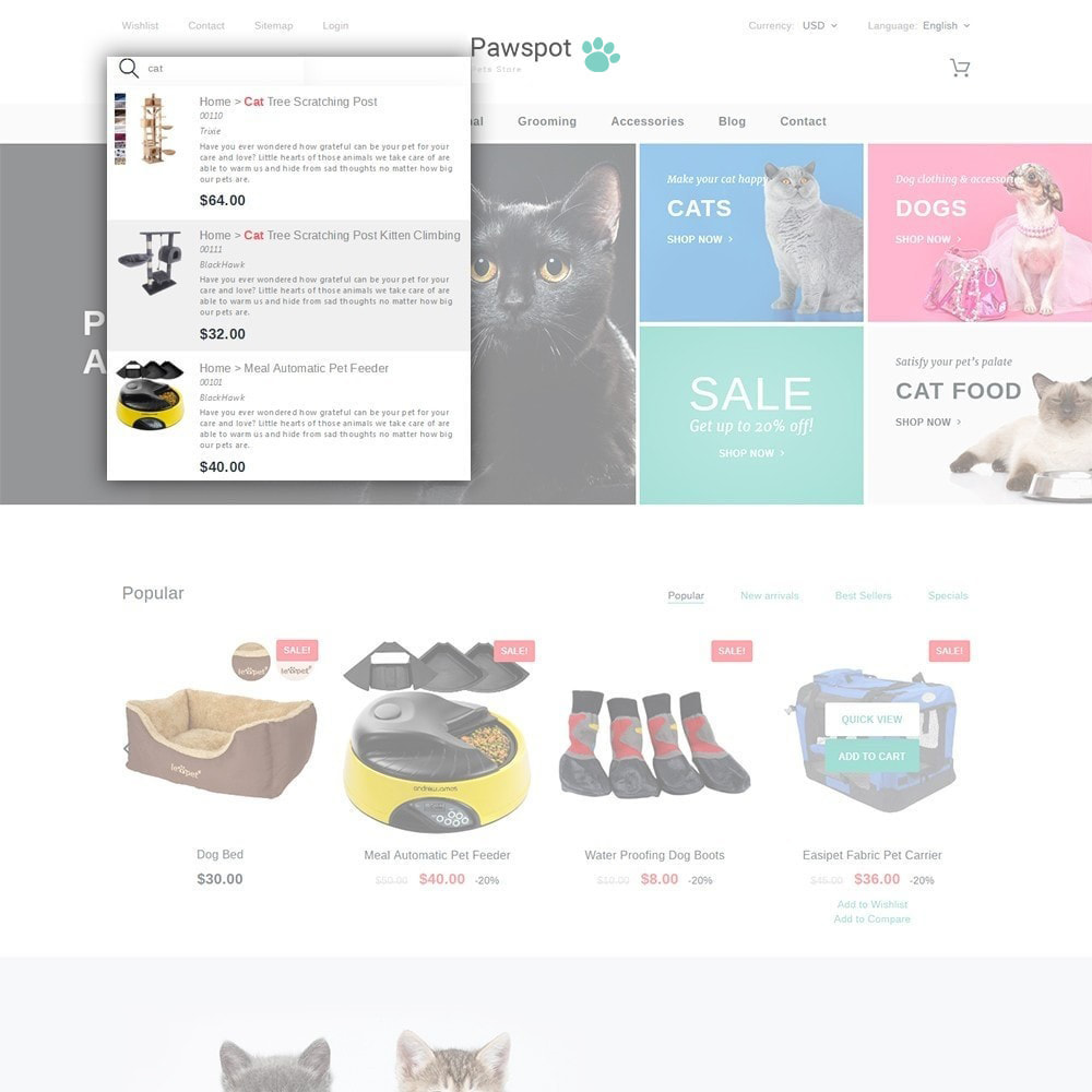 theme - Animaux - Pawspot - Pets Store - 3