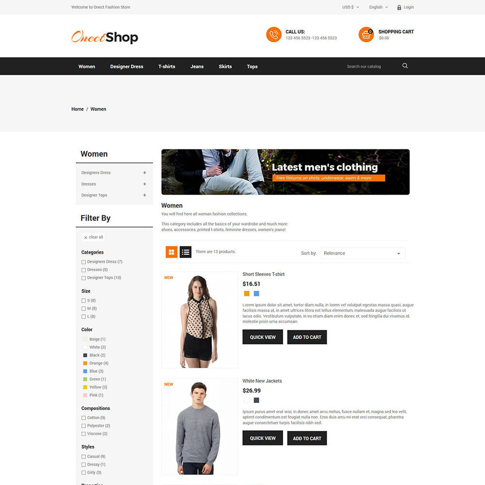 theme - Fashion & Shoes - Onect Apparels  - Fashion Accessories Store - 4