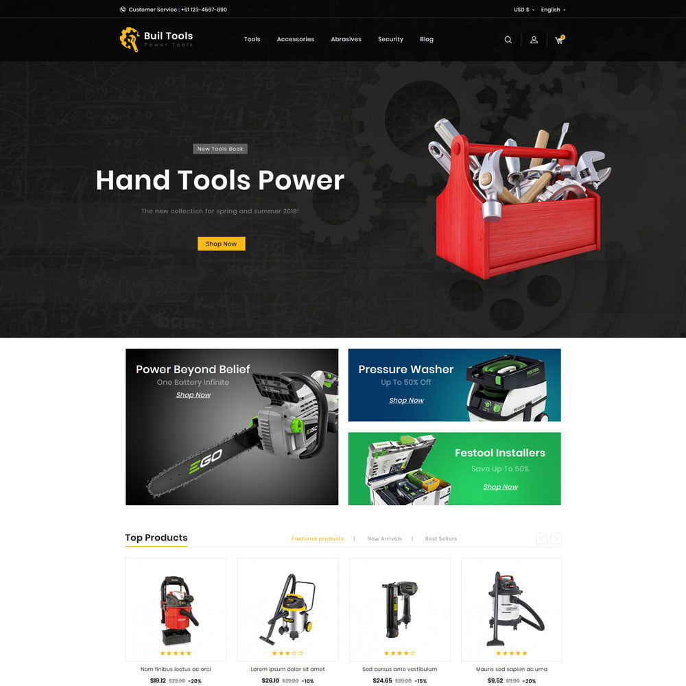 theme - Automotive & Cars - Buil Tool Power Store - 2