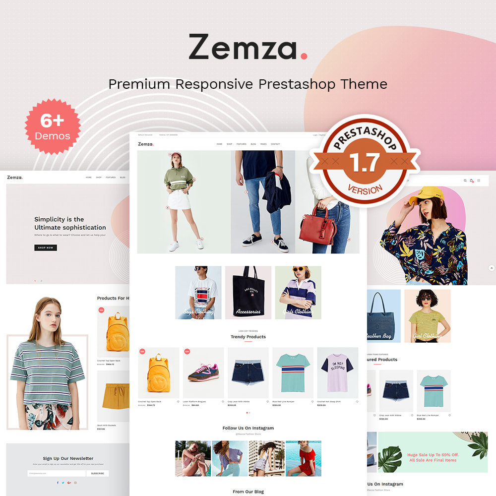 theme - Fashion & Shoes - Zemza - Multipurpose Creative Design - 1