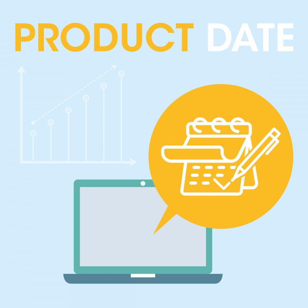 module - Information supplémentaire & Onglet produit - Date création produit - 1