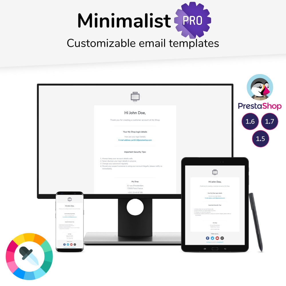 email - Email templates PrestaShop - Minimalist Pro - Email templates - 1