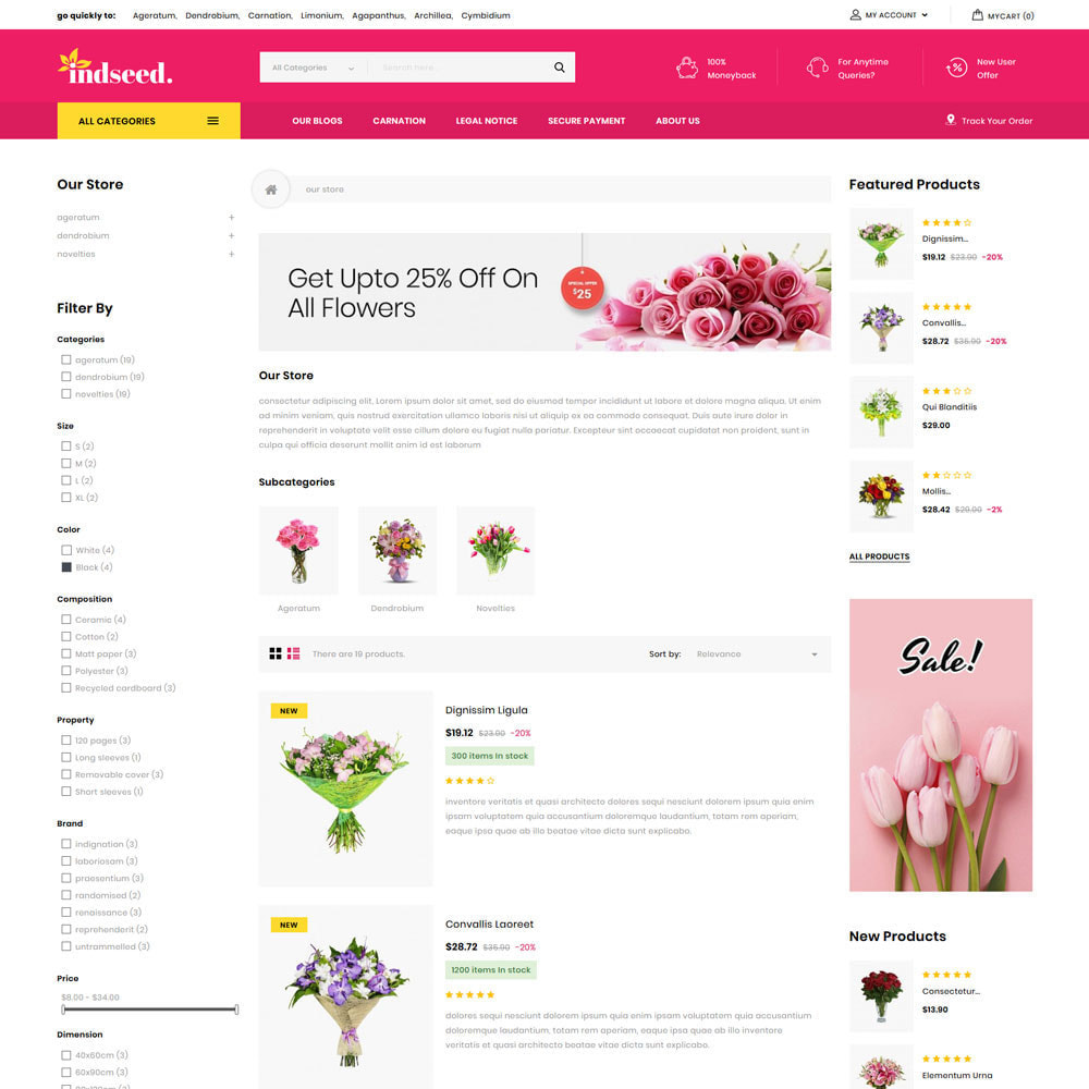 theme - Gifts, Flowers & Celebrations - Indseed - The Online Bouquet Shop - 6