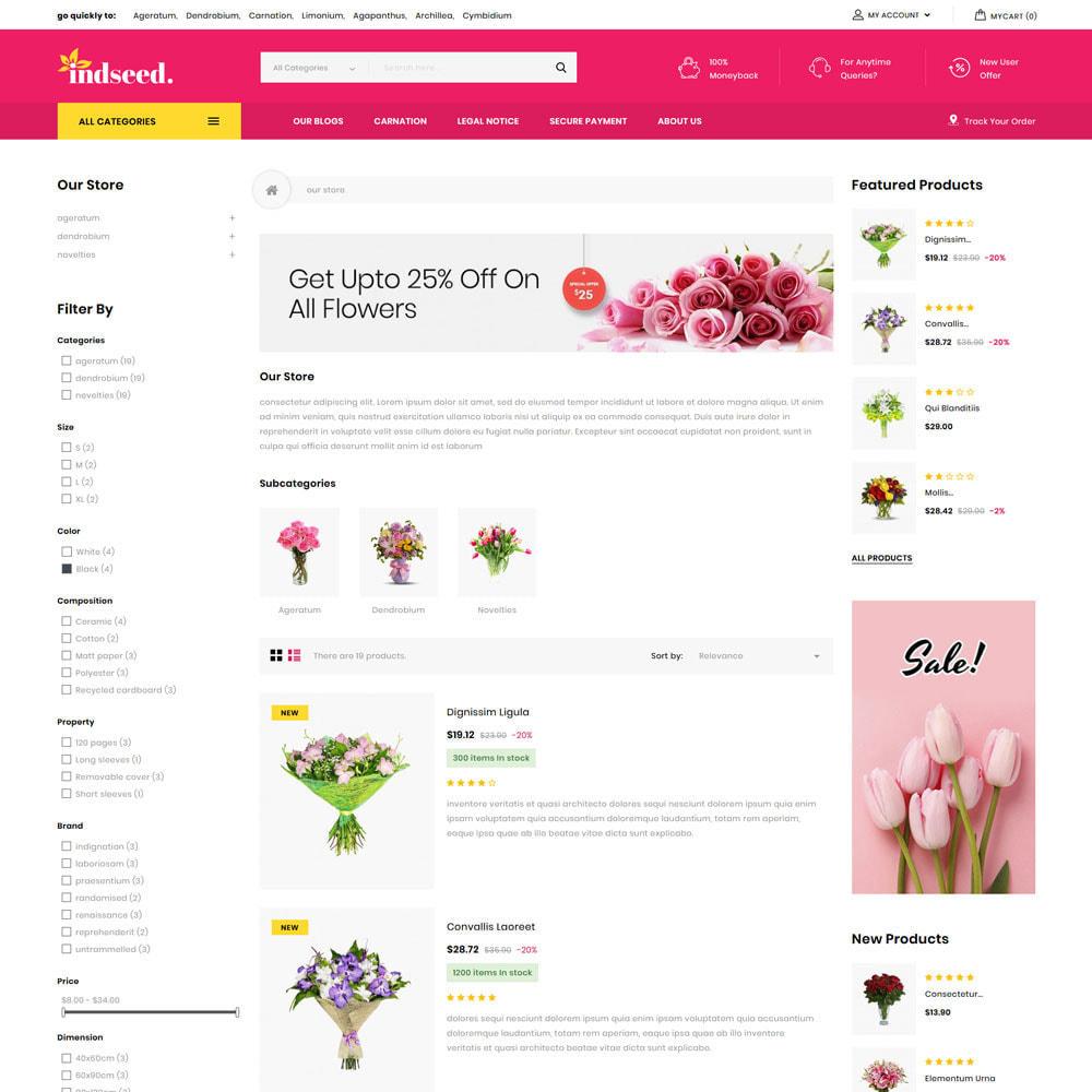 theme - Regalos, Flores y Celebraciones - Indseed - La tienda de ramo online - 7
