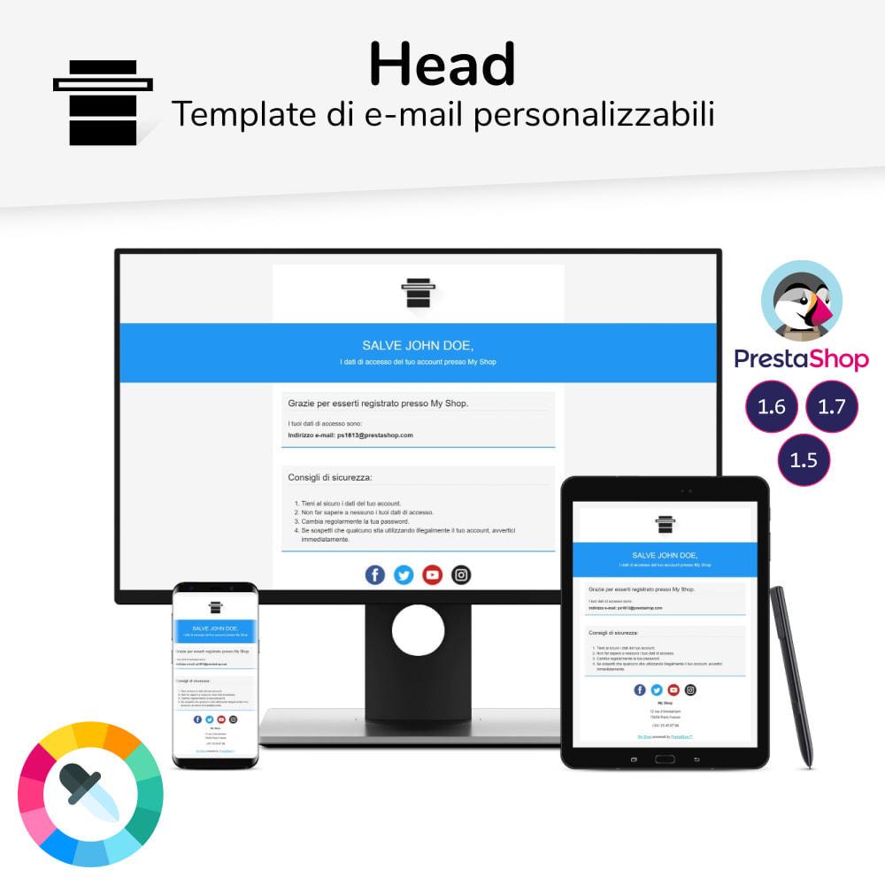 email - Template di e-mail PrestaShop - Head - template di e-mail - 1