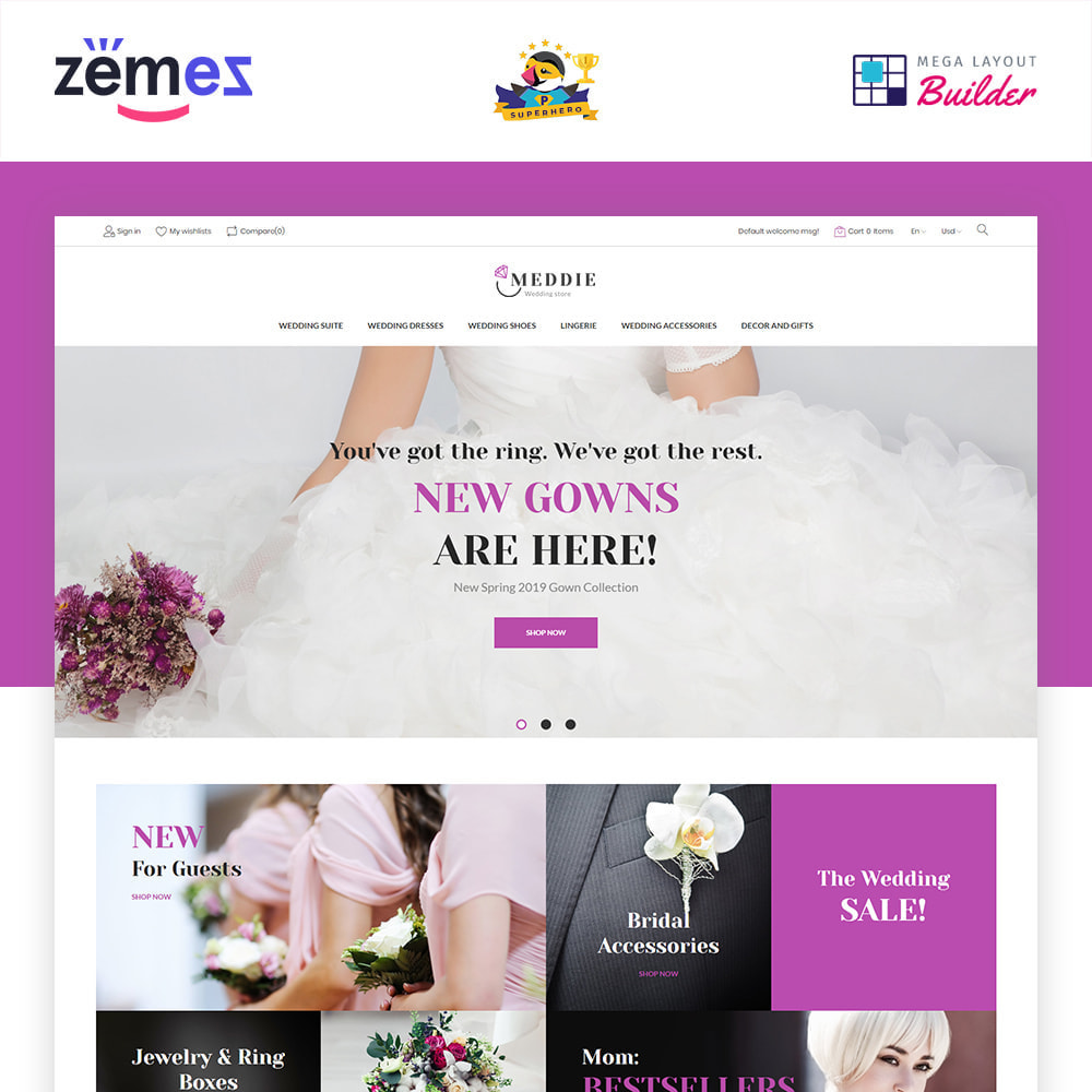 theme - Mode & Chaussures - Meddie - Wedding Shop - 2