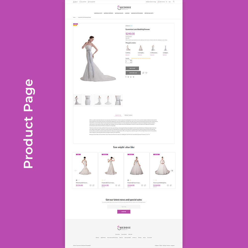 theme - Mode & Chaussures - Meddie - Wedding Shop - 7