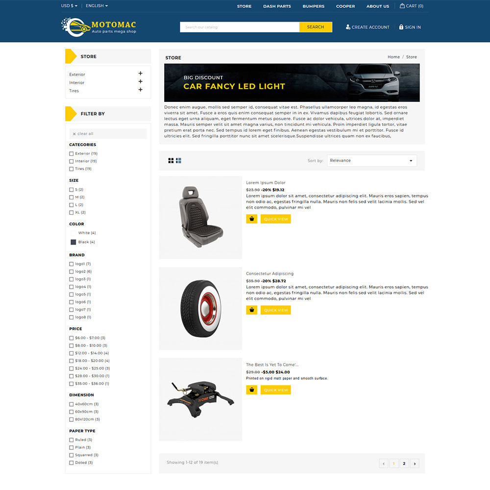 theme - Automotive & Cars - Motomac Automotive & Cars Store - 3
