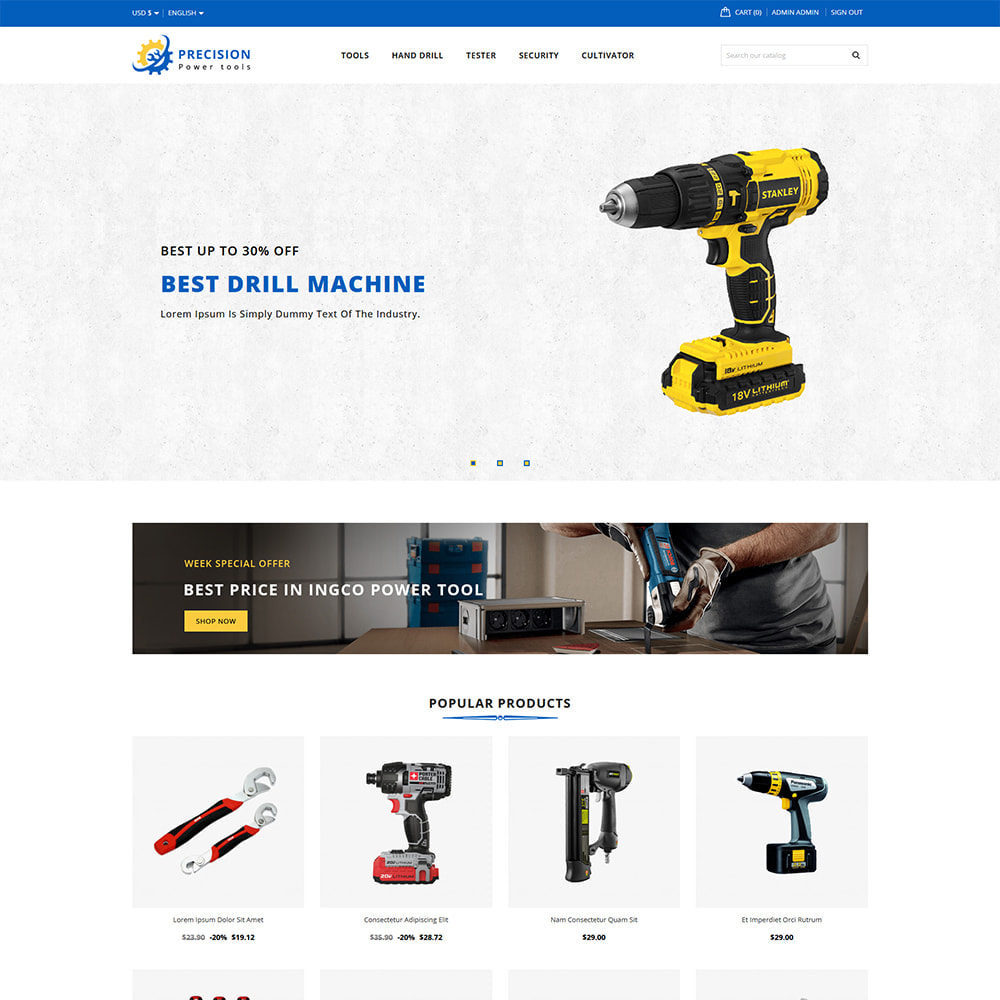 theme - Home & Garden - Precision Home & Tools Store - 2