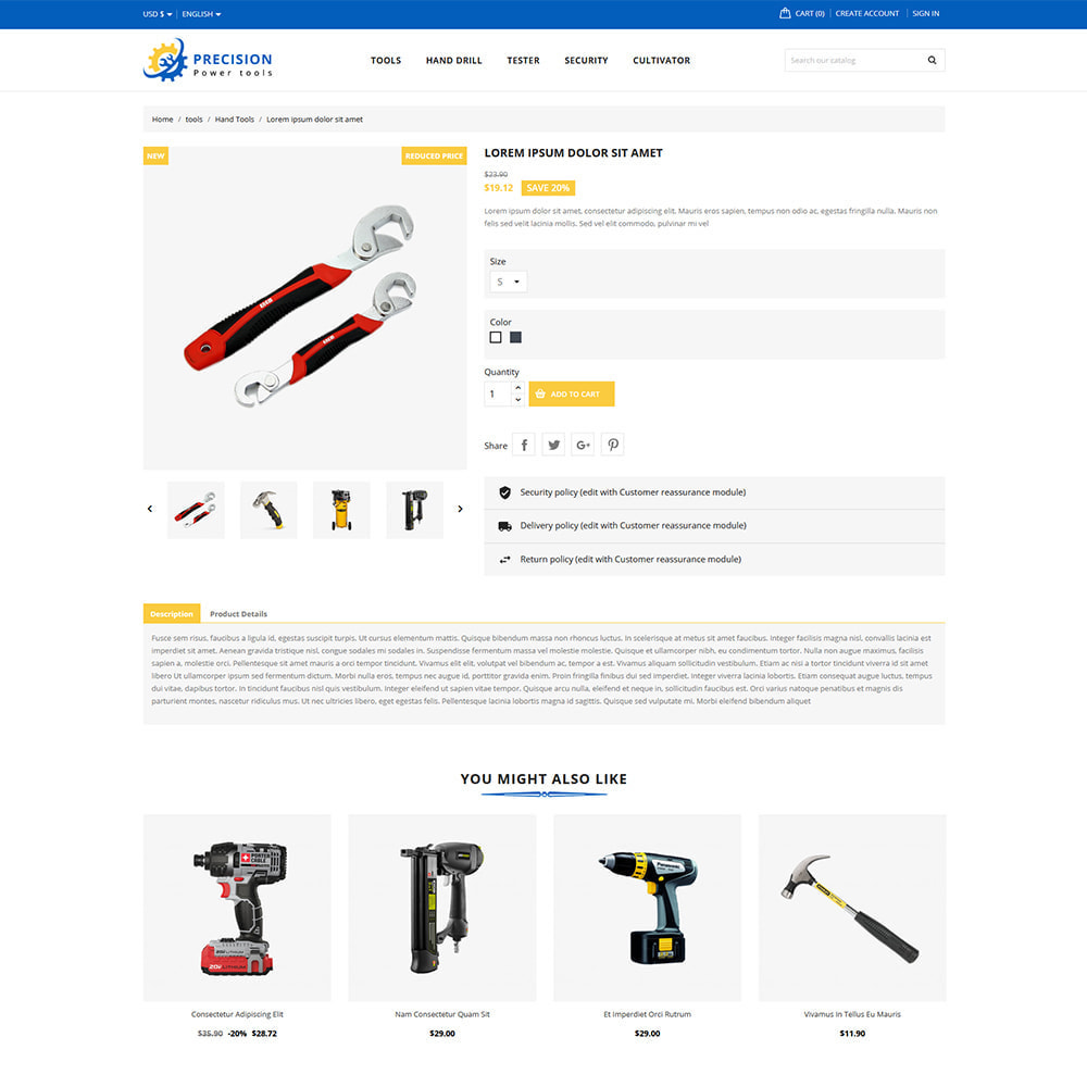 theme - Home & Garden - Precision Home & Tools Store - 5