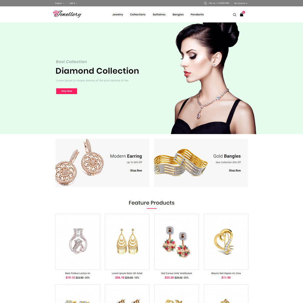 theme - Bellezza & Gioielli - Jwellery Shop - 2