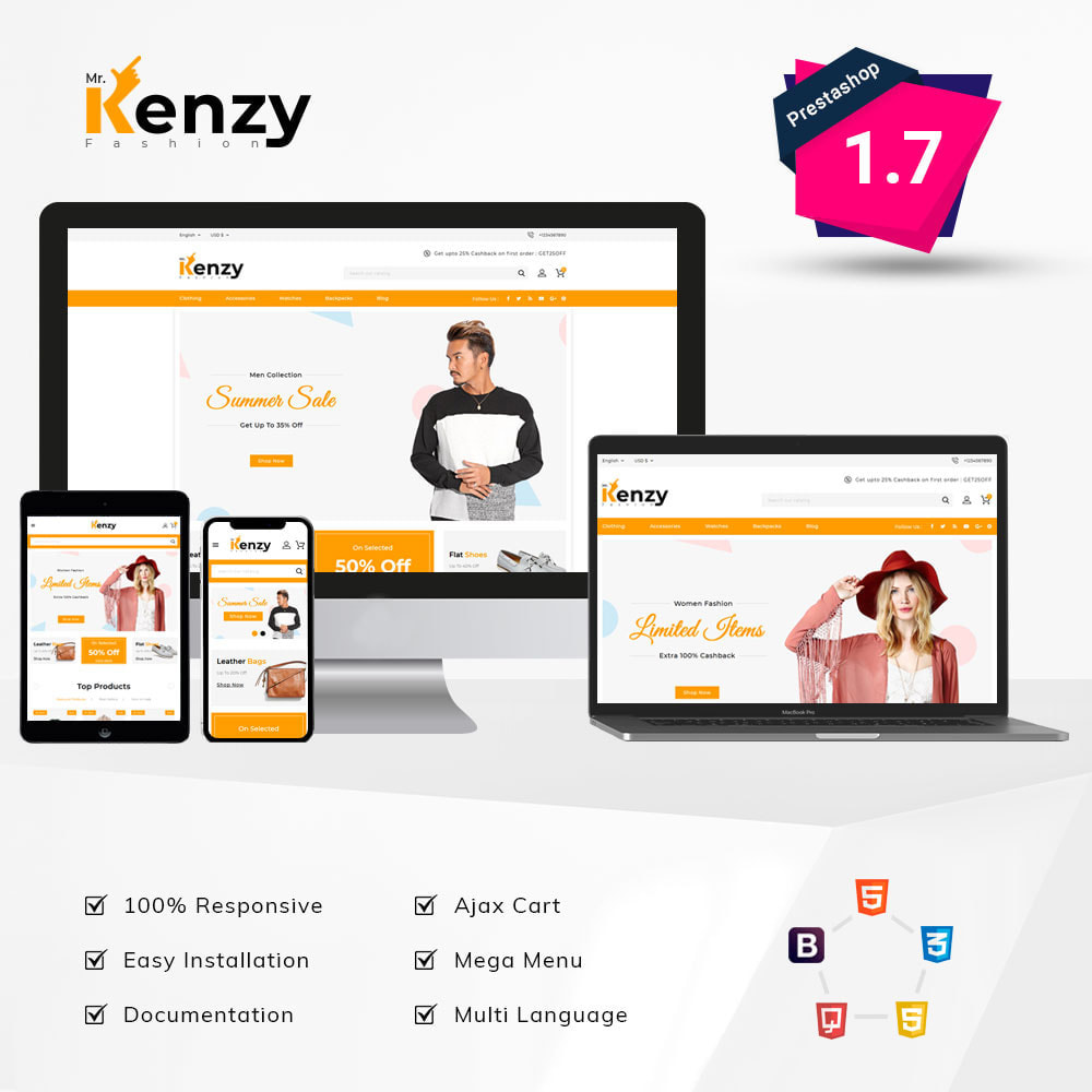 theme - Fashion & Shoes - Kenzy Fashion Shop - 1