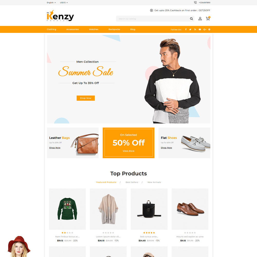 theme - Fashion & Shoes - Kenzy Fashion Shop - 2
