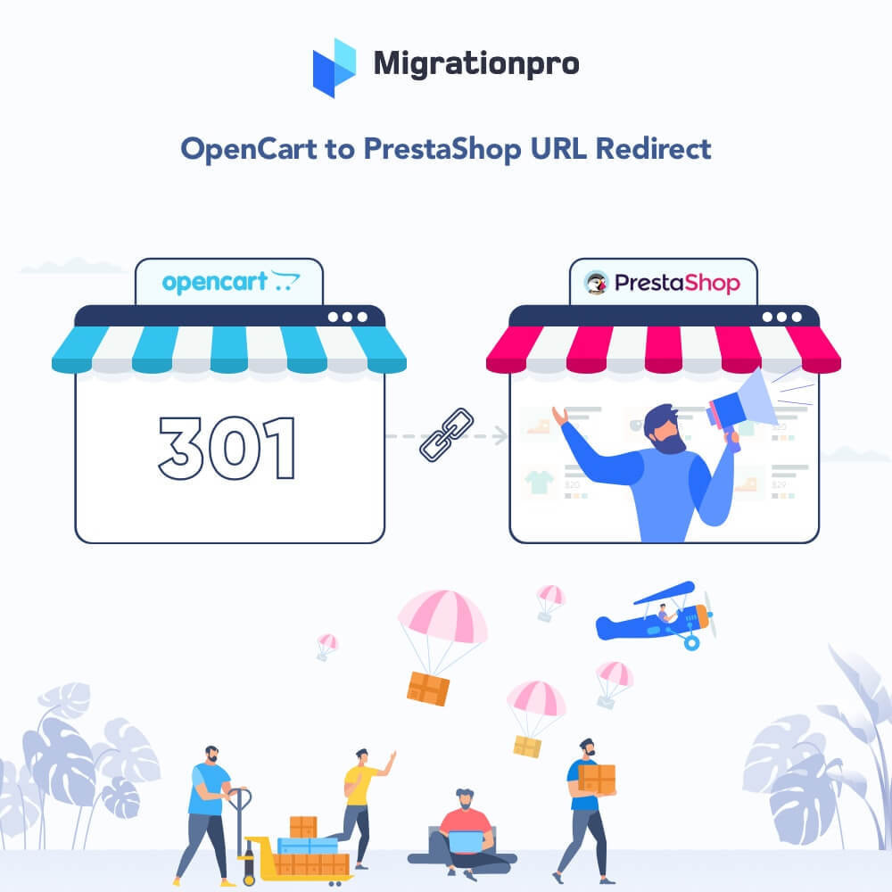 module - Migration de Données & Sauvegarde - MigrationPro: OpenCart to PrestaShop SEO Redirect Tool - 1