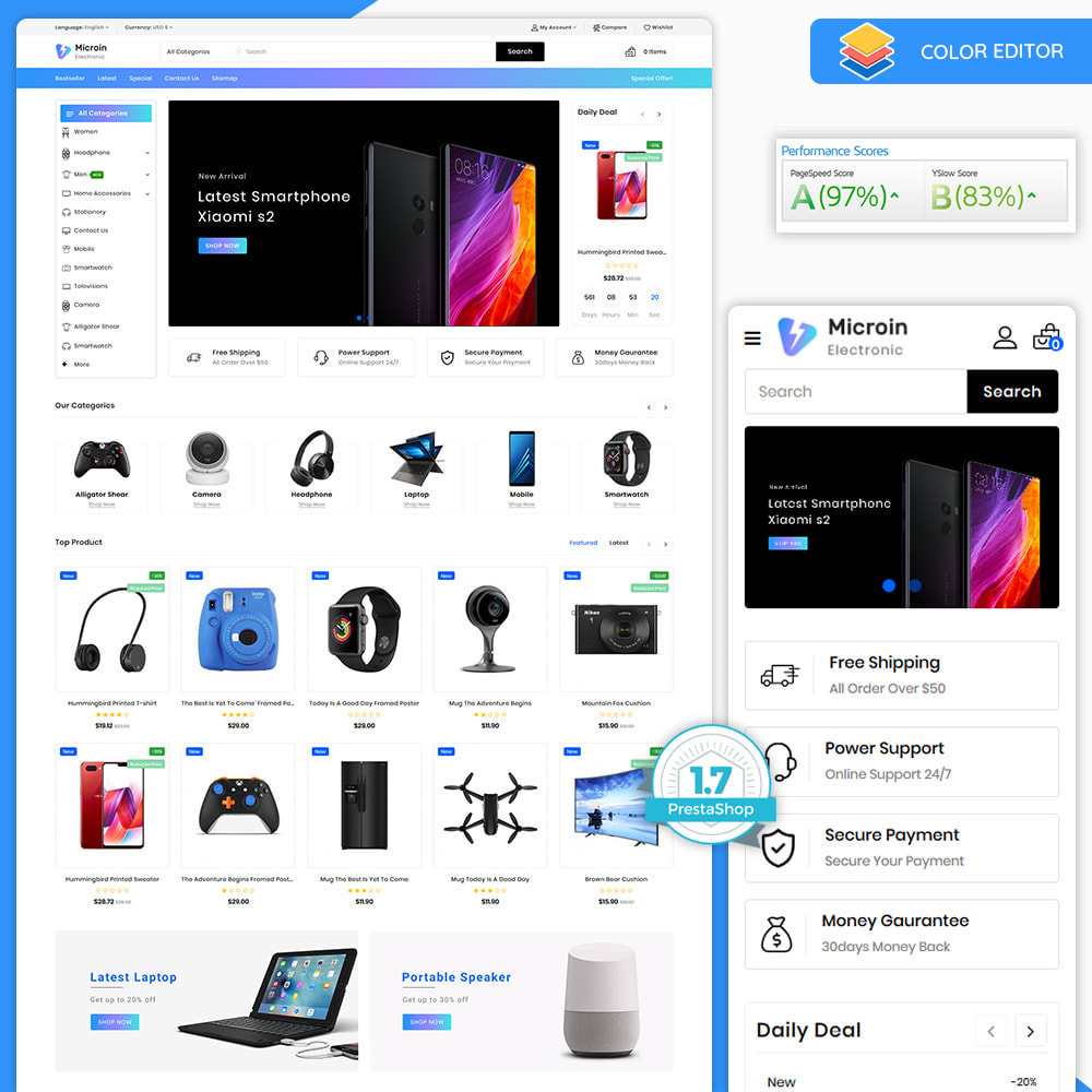 theme - Electronique & High Tech - Microin - The Best Electronics Store - 1