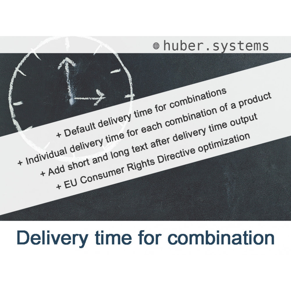 module - Bundels & Personalisierung - Delivery time for combinations - 1