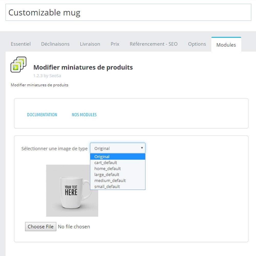 module - Visuels des produits - Editor - remplacement des miniatures - 4