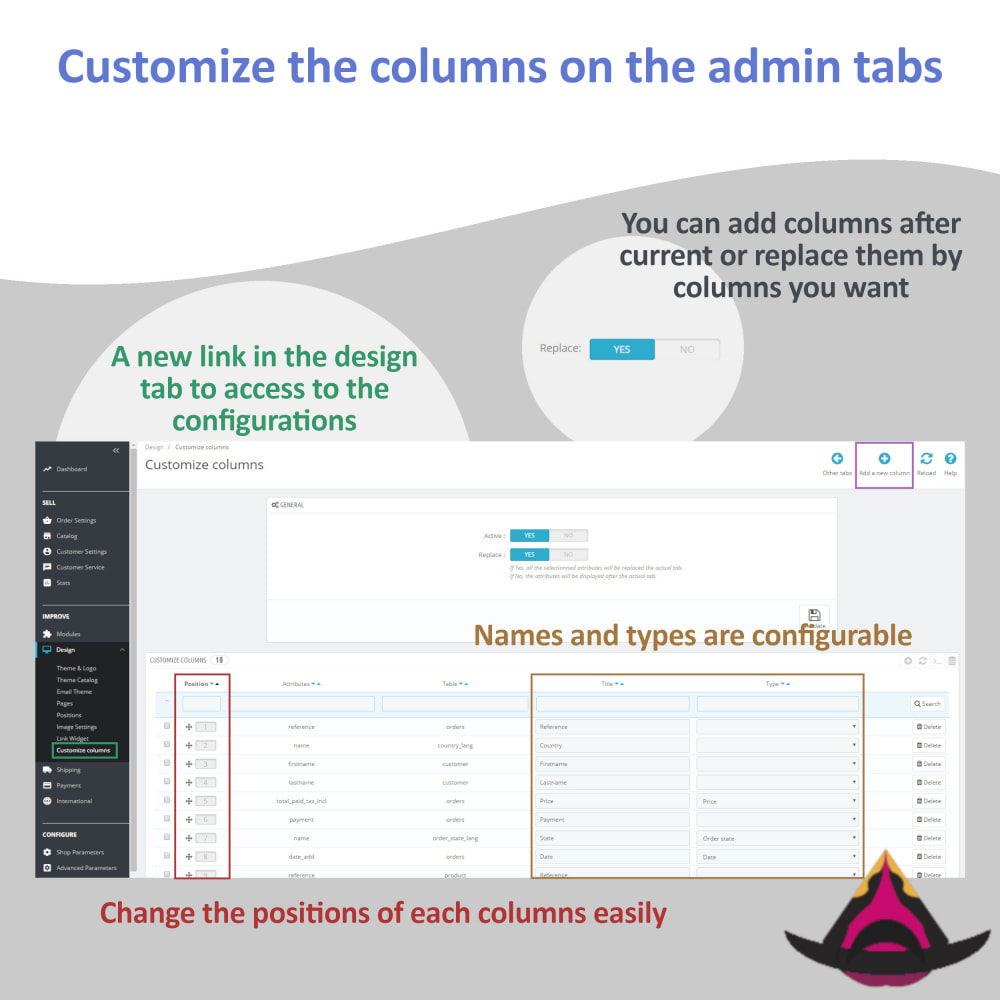 module - Herramientas Administrativas - Customize the columns on the admin lists - 3