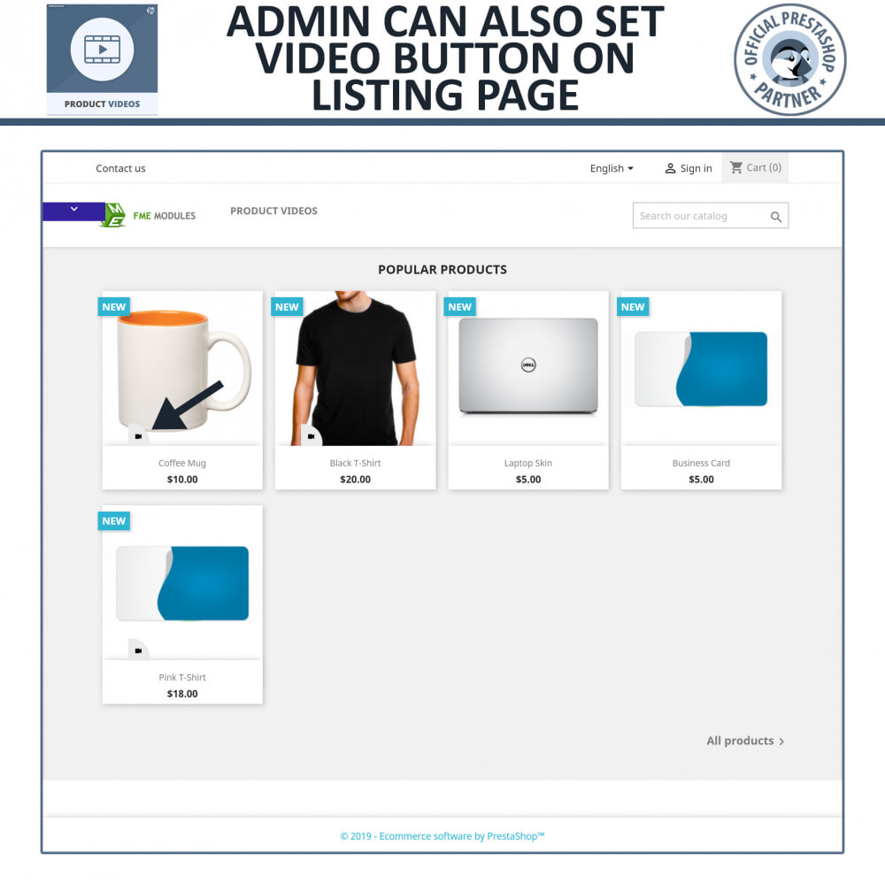 module - Videos & Music - Product Videos - Upload or Embed YouTube, Vimeo - 2