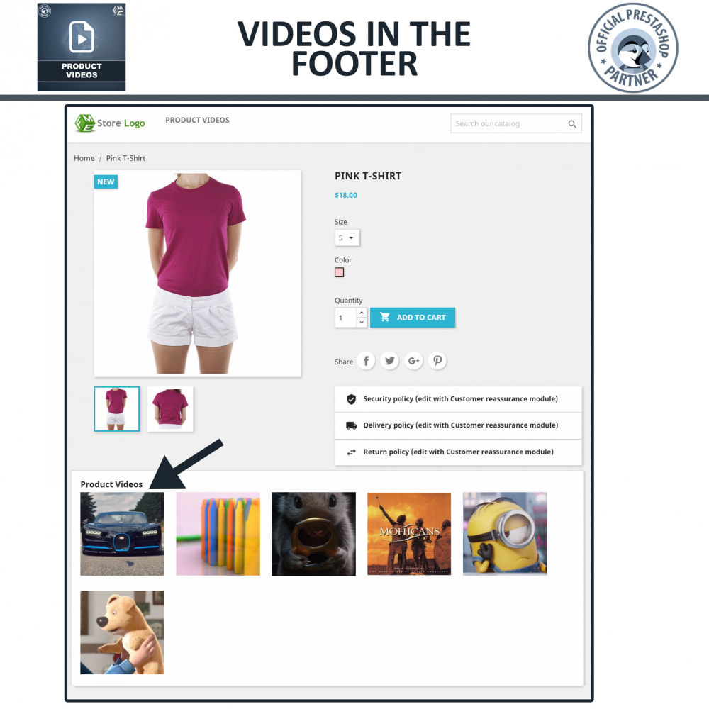 module - Videos & Music - Product Videos - Upload or Embed YouTube, Vimeo - 6