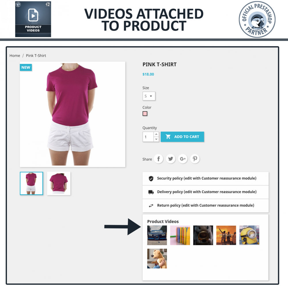 module - Videos & Music - Product Videos - Upload or Embed YouTube, Vimeo - 7