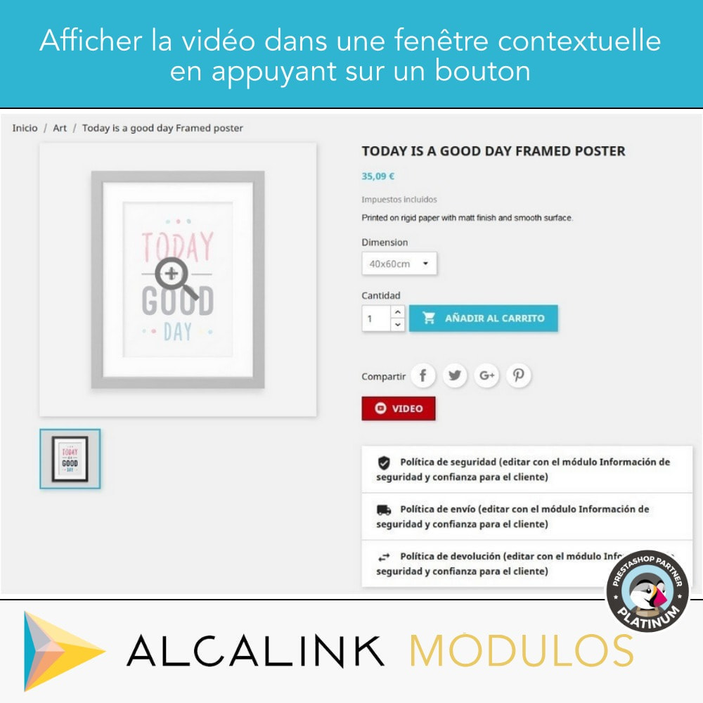 module - Vidéo & Musique - Vidéo sur la Fiche Produit - Youtube, Dailymotion... - 4
