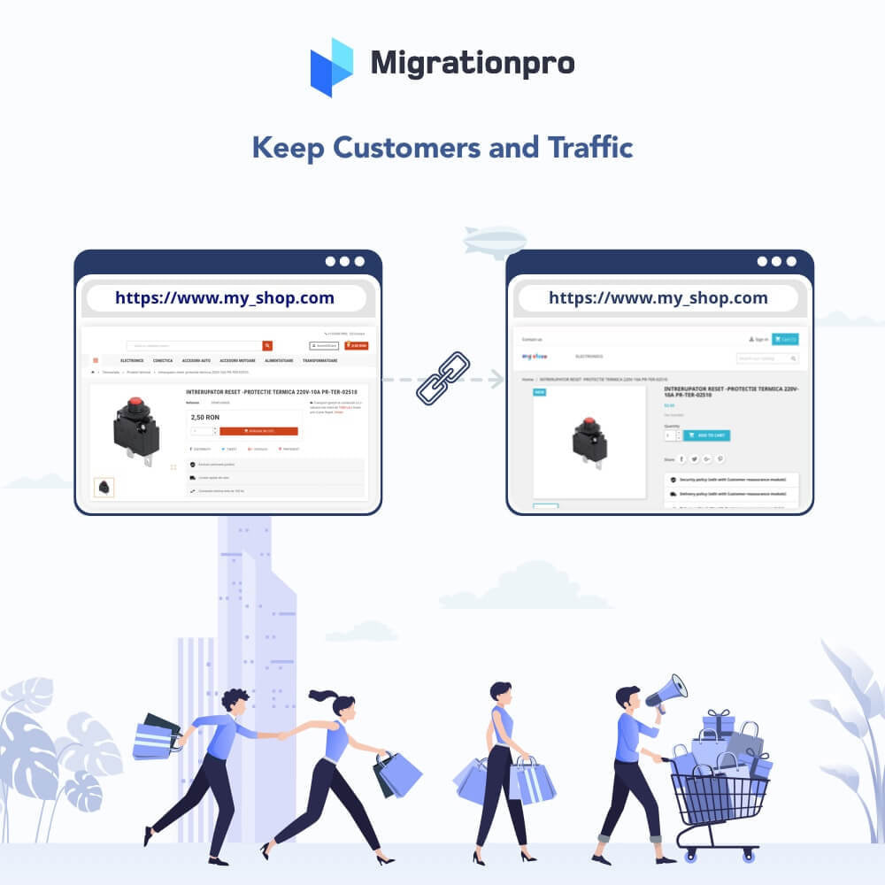 module - Migration de Données & Sauvegarde - MigrationPro: Magento to PrestaShop SEO Redirect - 4