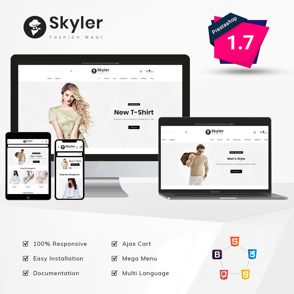 theme - Fashion & Shoes - Skyler Fashion - 1
