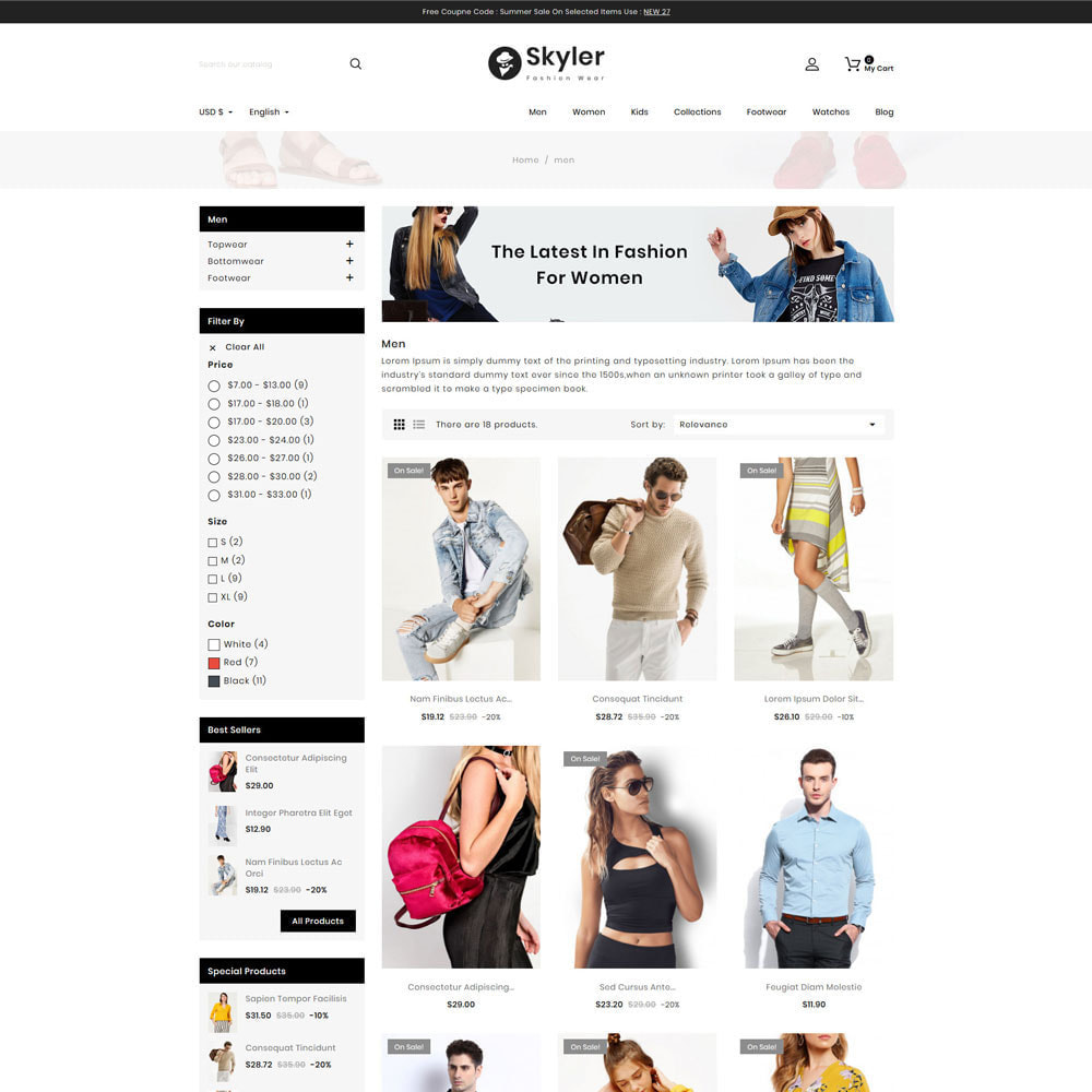 theme - Fashion & Shoes - Skyler Fashion - 3